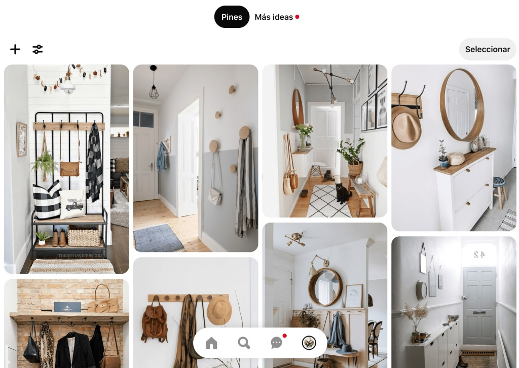 Tablero Pinterest Recibidores